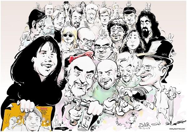 Yunanistanlı Dostum Soter Tas'dan Lütfü Çakın ve izmir'li Karikatürcüler portreleri