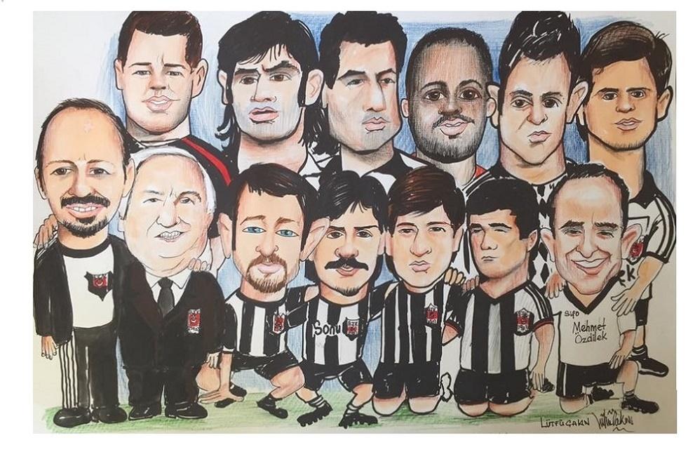 Beşiktaş Efsane takım ve özel karikatür