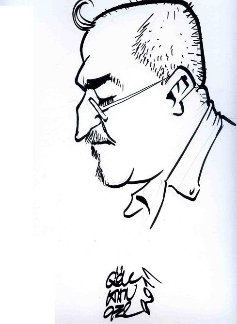 Anadolu Karikatürcüler Derneği üyesi Dostum Gökhan Hançer'den Lütfü Çakın PORTRESİ