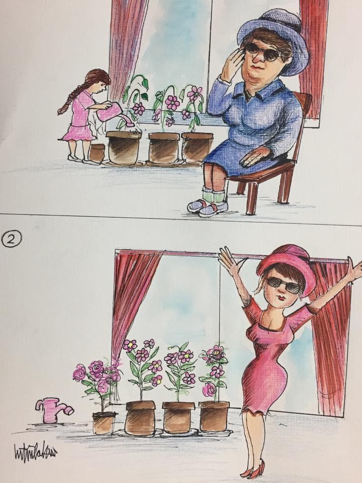 kadın çiçektir