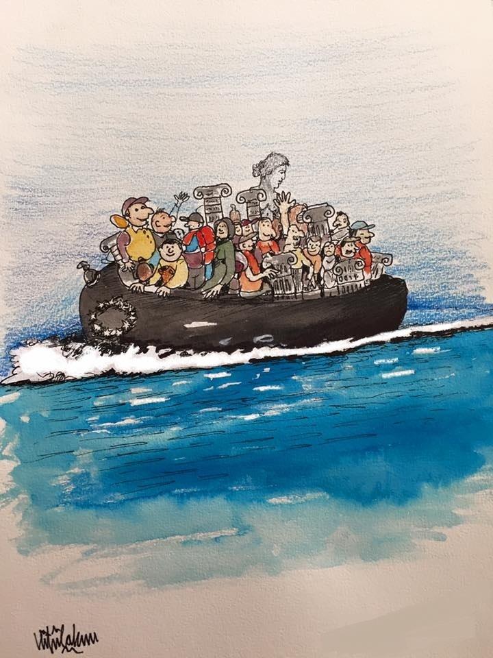 31. Uluslararası Eski Eser Müze ve İnsan ilişkileri konulu yarışmada 1. cilik ödülü alan karikatürüm.