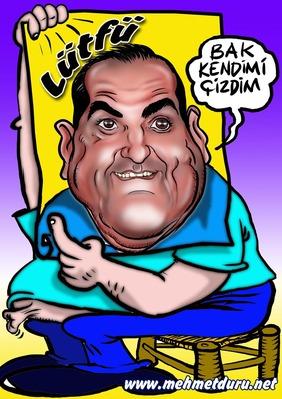 Portre Karikatür virüsünü bana bulaştıran usta Karikatürcü ,Nevi Şahsına Münhasır Dostum Mehmet Duru Çizdi.