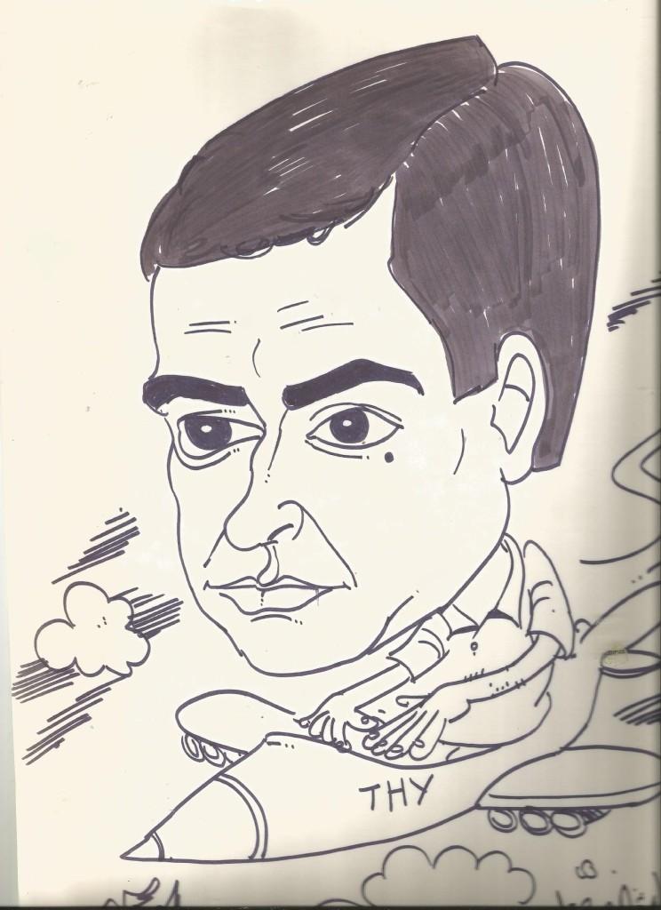 Fethiye içmelerde portre çizen arkadaşımız Sezer Dönmeze ait Lütfü Çakın PORTRESİ