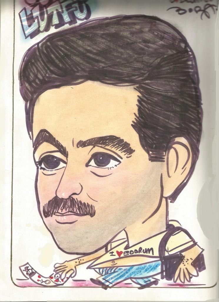 Sevgili Boraya ait ilk çizilen karikatürüm  o yıl borayla yeni tanışmıştık.