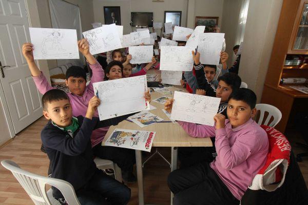 Mustafa Yıldız ve öğrencileri