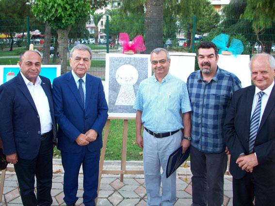 İzmir Büyükşehir Belediye  Başkanı Aziz Kocaoğlu Çiğli Beldiye başkanı Hakan Arslan Mustafa Yıldız Murat Asın