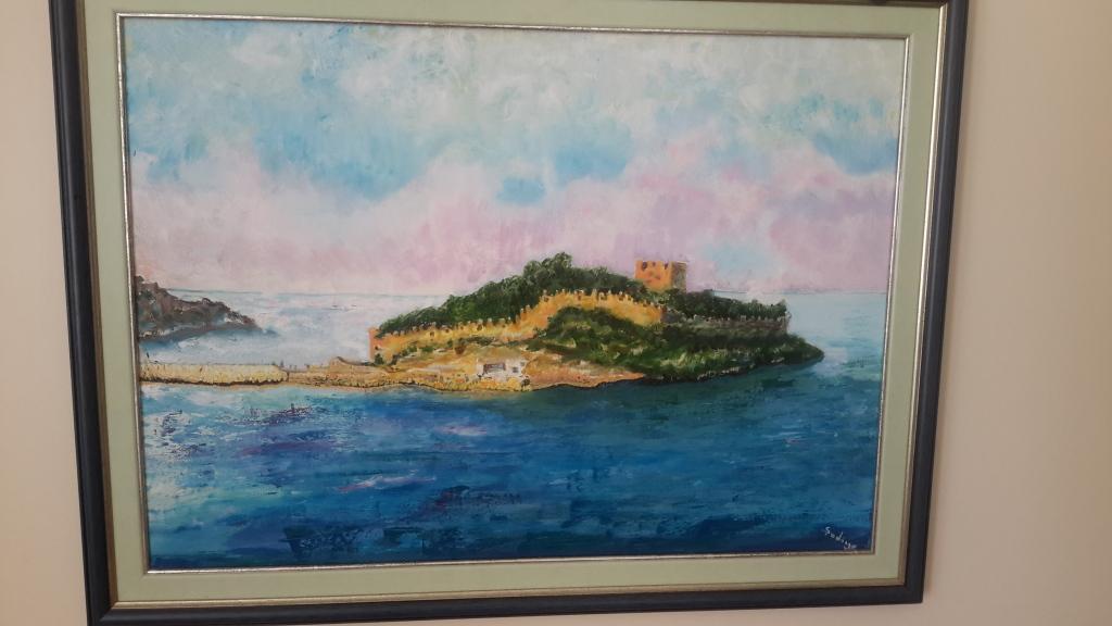 Güvercin Ada  Yağlı boya  70x50