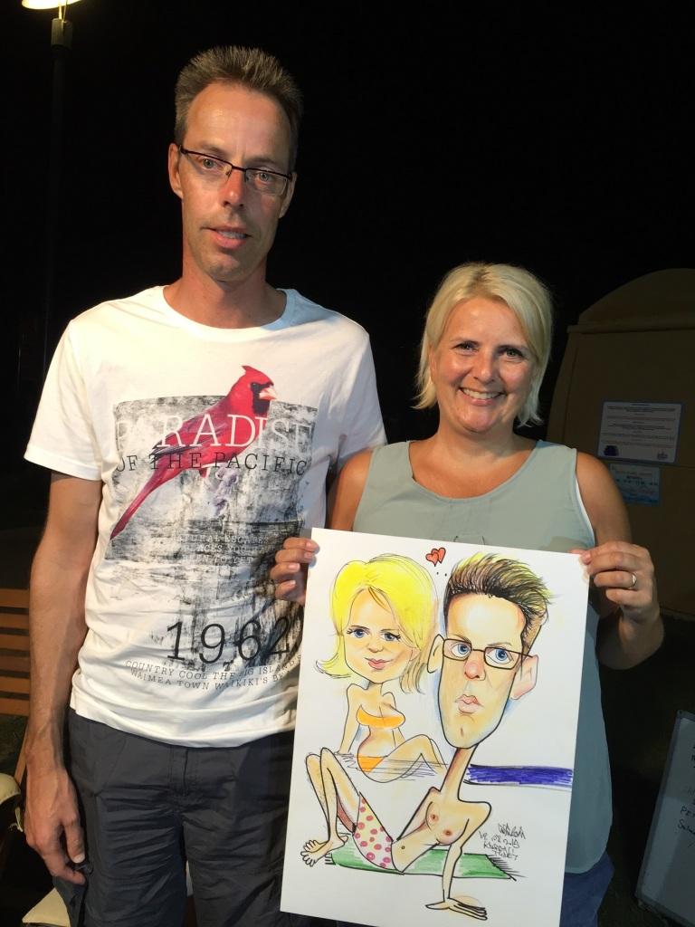 Tuncay Erol ve Ozan Çavdar'dan ayrıldıktan sonra Hollandalı Turistlerin portre Karikatürünü çizdim.
