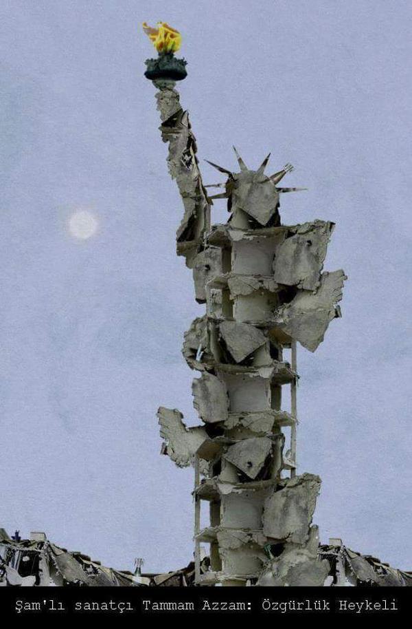 Demokrasiyi özgürlüğü anlatan meşhur heykel