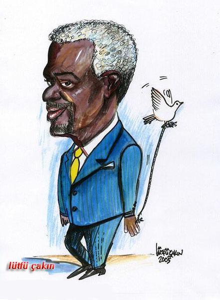 Bir zamanlar birleşmiş milletler başkanı Kofi Annan
