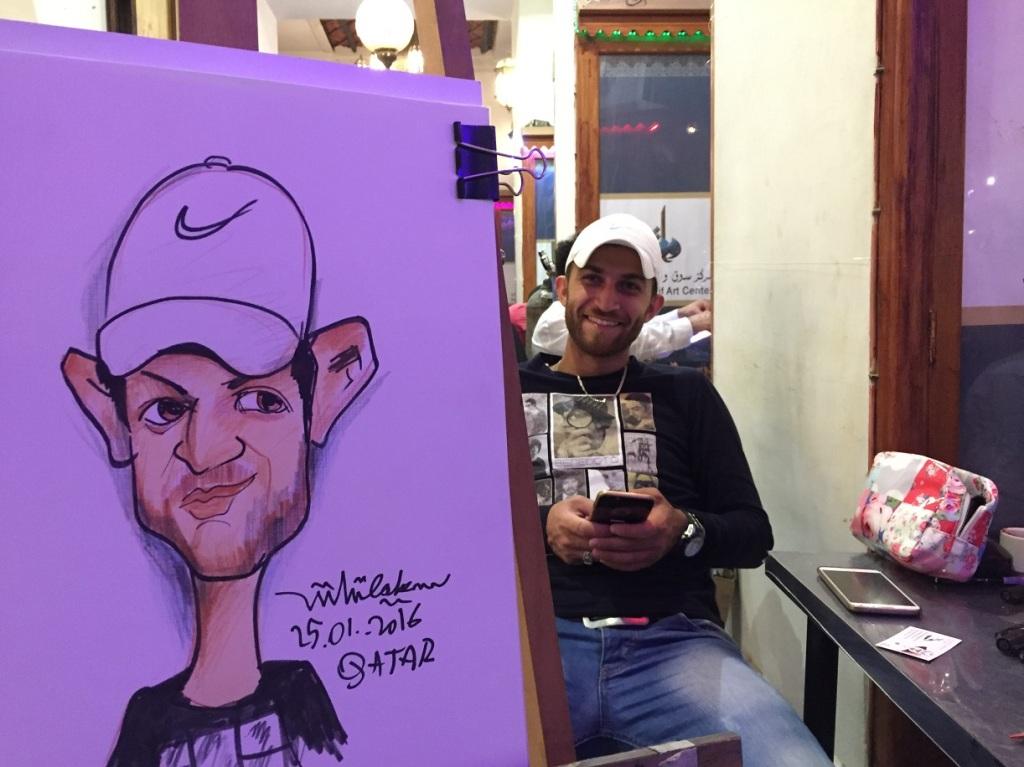 Qatar festivali çizim anı