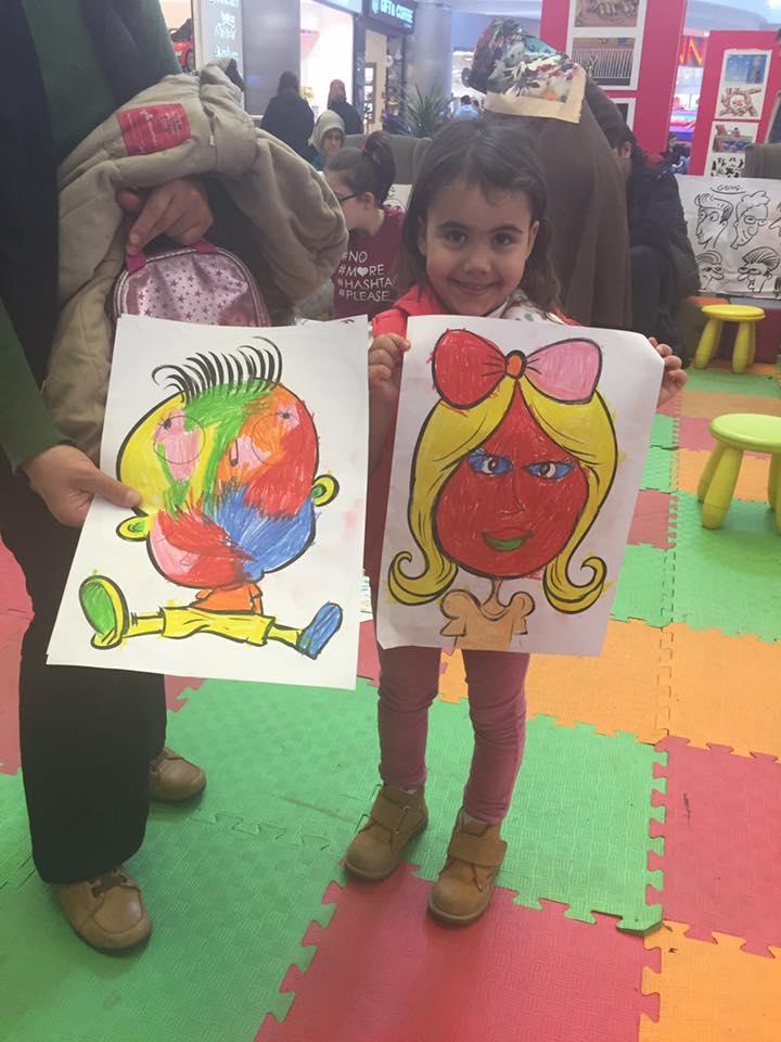 Çocuklarla rengarenk
