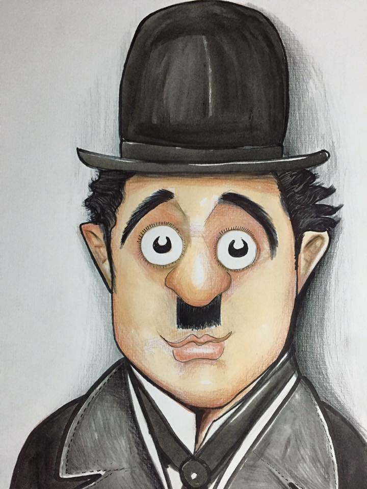 Charlie Chaplin  Portekizde bir yarışma için çizmiştim.
